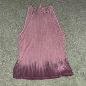 AMERICAN EAGLE pink tie dye halter top